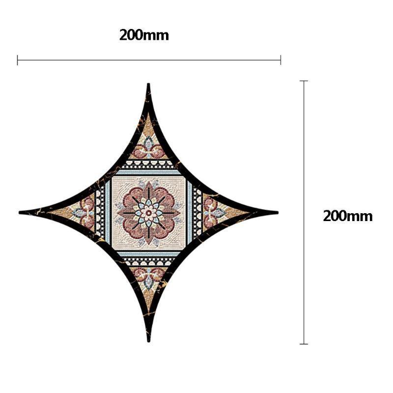 Tile 10pcs 3D Diagonal Adesivo PVC impermeável óleo à prova de umidade à prova de 20x20cm adesivo parede Início Cozinha Pavimento DIY Wall Decals