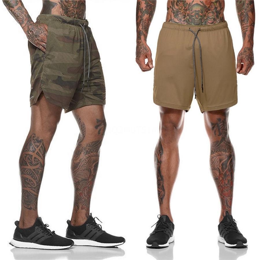 Pantalones de verano para hombre de la marca del basculador deporte cortocircuitos adelgaza Hombres Negro culturismo masculino cortos pantalones cortos de fitness gimnasios entrenamiento # 125