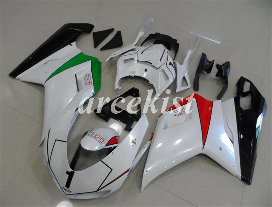 New ABS motorcycle Full Fairings set Fit For Ducati 848 1098 1198 1098s 1098R EVO 2007 2008 2009 2010 2011 2012 Free Custom Red Green