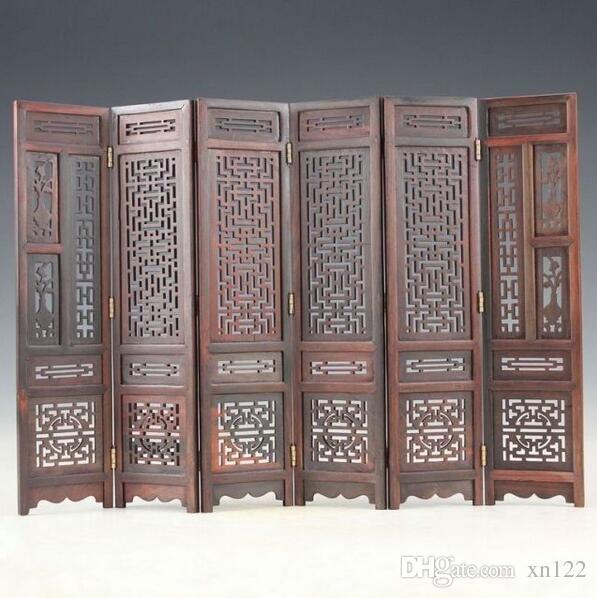 Paravent en bois de buis chinois sculpté à la main