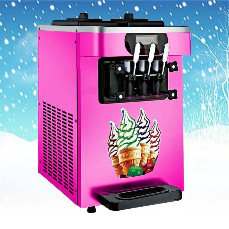 venta caliente CE escritorio certificado de ahorro de energía de acero inoxidable de la máquina de hielo crema de máquinas de hacer helados portátil para los negocios