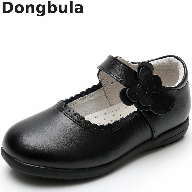 جديد بنات الأميرة أحذية جلدية لل أطفال اللباس أحذية المدرسة السوداء الأحذية المسطحة تنفس للأميرة طالب حزب الرقص Y19062001