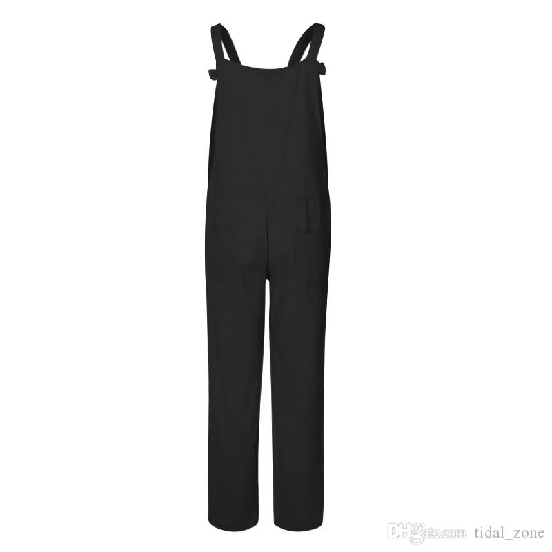 2019 nouvelle personnalité populaire européenne et américaine de la mode boom des pantalons lanières en coton chanvre grande taille occasionnels occasionnels