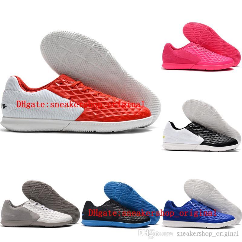 2020 высокое качество мужская футбольная обувь Tiempo Legend VIII club IC indoor ACC футбольные бутсы кожаные футбольные бутсы мужские низкие botas de futbol 02