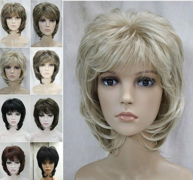 Kısa Kıvırcık Günlük Doğal Saç Siyah Kahverengi Sarışın Bayanlar Cosplay peruk peruk Ücretsiz shippingHot Satış Kadınlar
