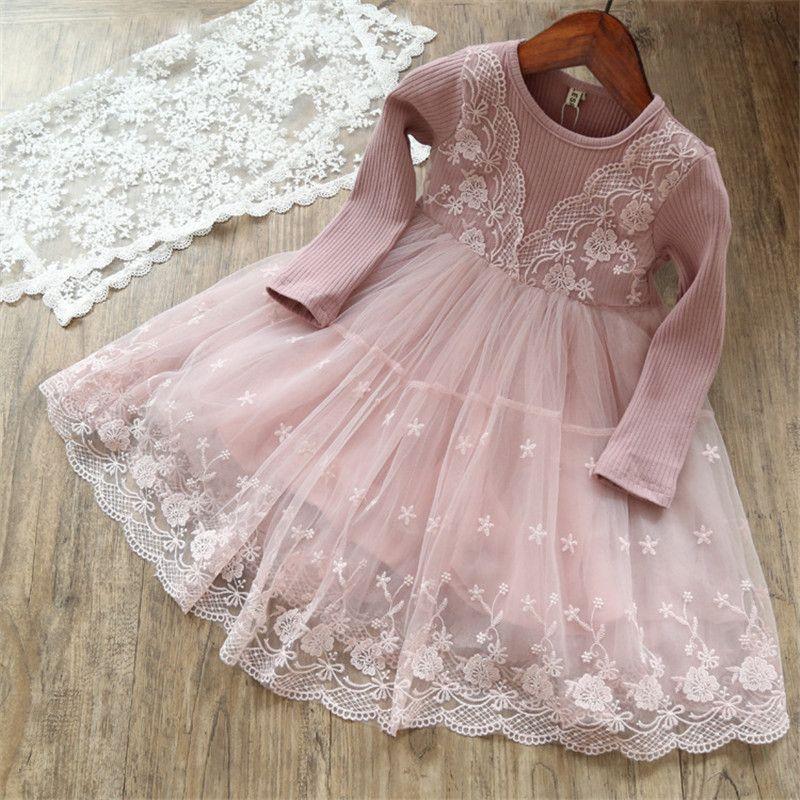 Compre Meninas Vestido Elegante Primavera Outono Vestidos De Renda Para Crianças Menina Roupas 3 7 Anos Crianças Aniversário Princesa Tutu Trajes