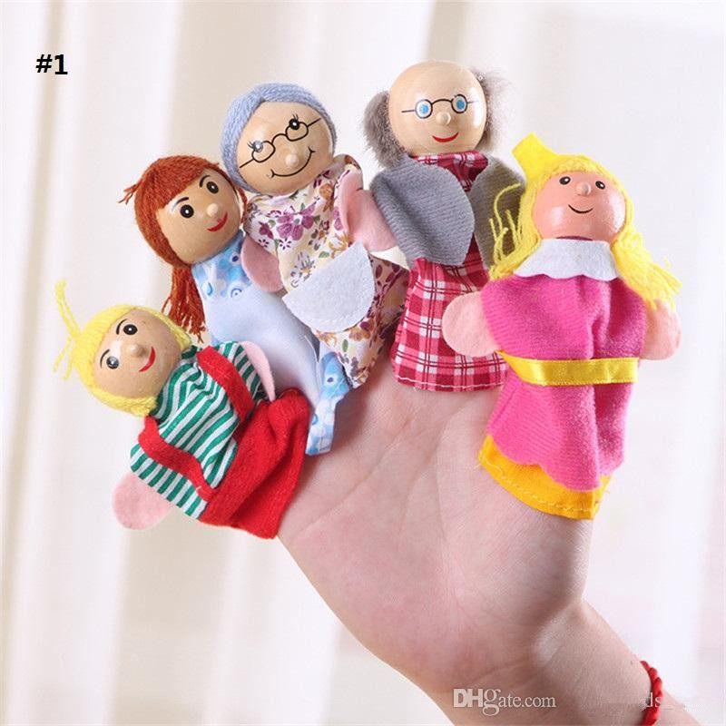 للجنسين لعبة الدمى فنجر فنجر الحيوانات لعب لطيف الكرتون للأطفال لعبة حيوانات محشوة ألعاب تعليمية دمية المشهد القص dollK0140