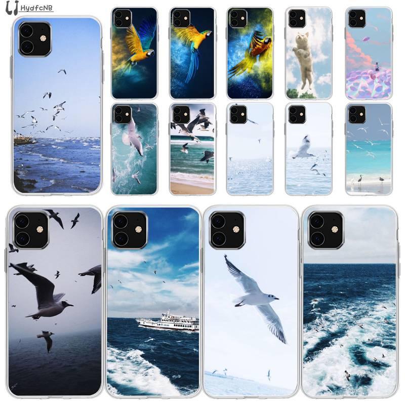 Nuovi uccelli e gatti di lusso high-end cassa del telefono del silicone per iPhone 11 COVER PRO XS MAX 8 7 6 6S Plus X 5 5S SE XR