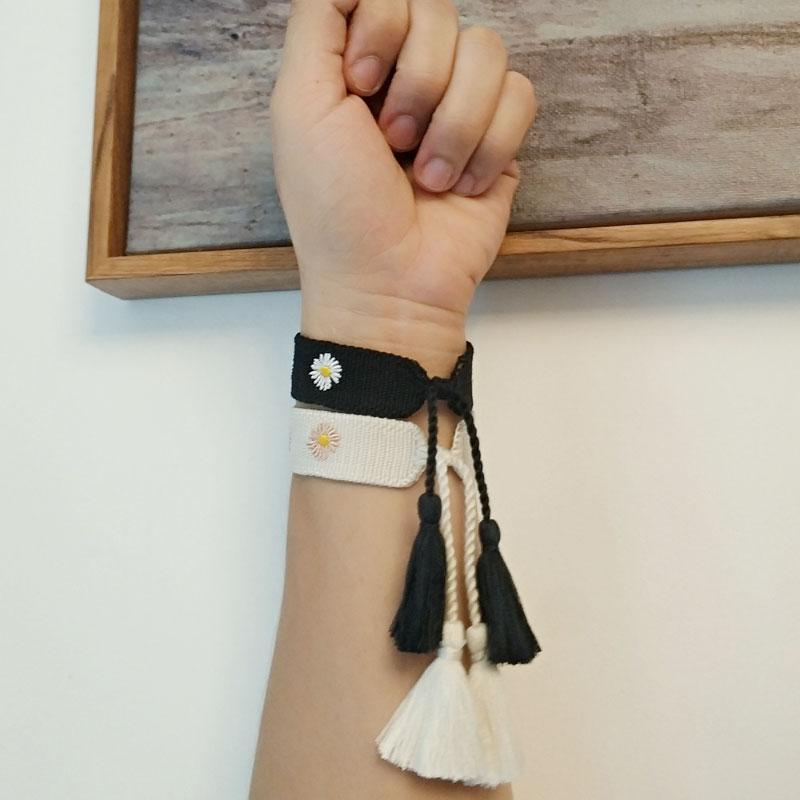 2020 лето новый прочистки хризантема рисунок вышивки браслет подарок для хороших друзей, женская дружба дизайнер браслеты Free Шипп