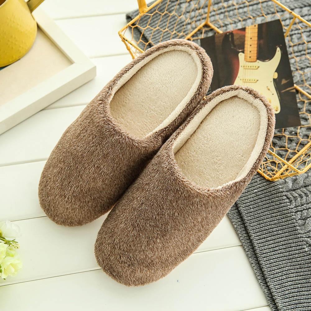 Summer Shoes Men Simple Warm Plush Non-slip Men Shoes Outdoor Home Slippers Flip Flops Zapatos De Hombre Chaussure Homme