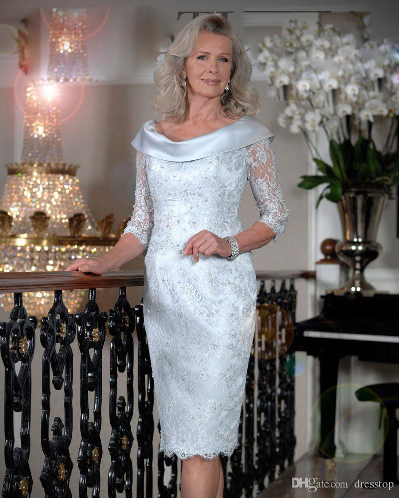 outlet store e80b2 489e4 Großhandel Elegante Mutter Der Braut Kleider Halbarm U ...