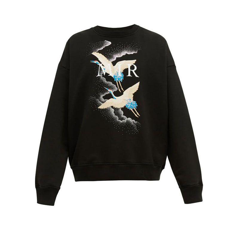 Herren Hoodie Sweatshirts Fashion Crane Printed Qualitäts-Mann-Frauen Hoodies Unisex Stylist-Jacke Größe S-XL