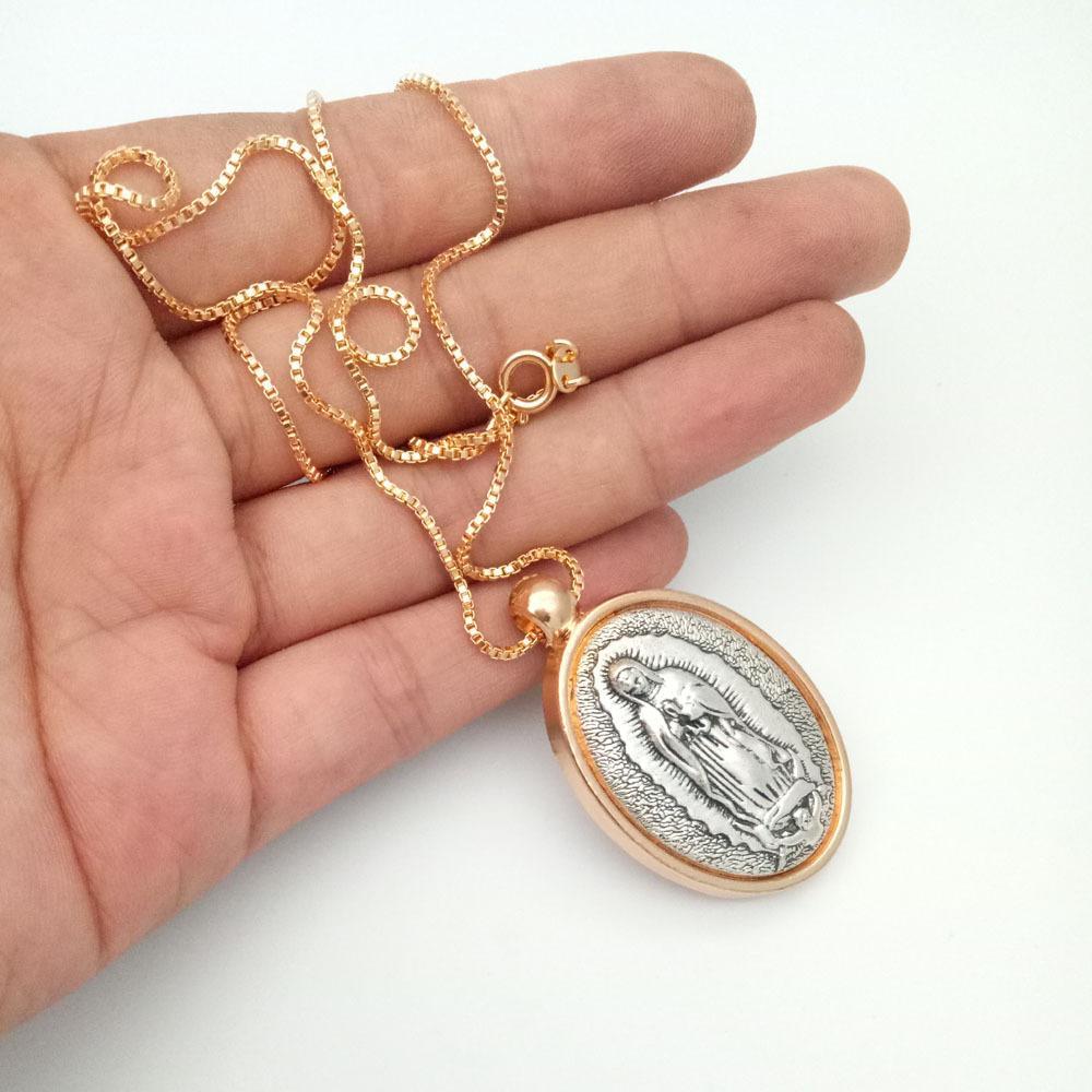New Designer Vierge Marie catholique collier pendentif Ornement religieux avec chaîne longueur de chaîne 45cm Accessoires Bijoux charme religieux