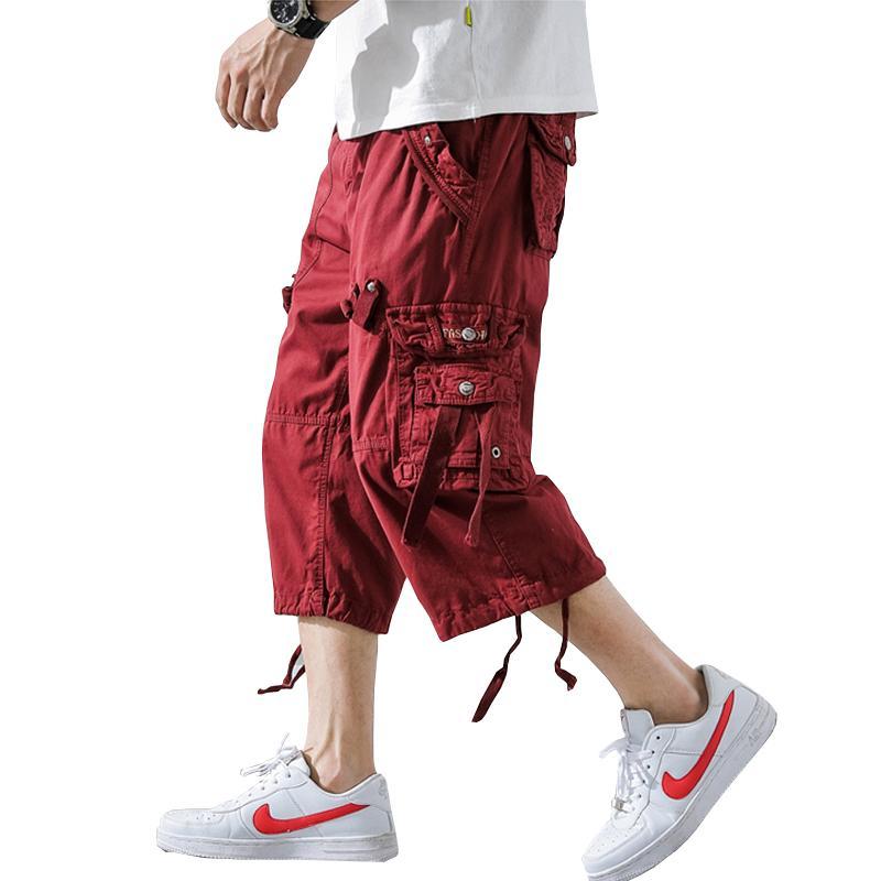 2020 pantaloni di estate Camouflage allentato Cargo Shorts Camo estate brevi Homme Cargo Shorts senza cinghia di trasporto di goccia ABZ307