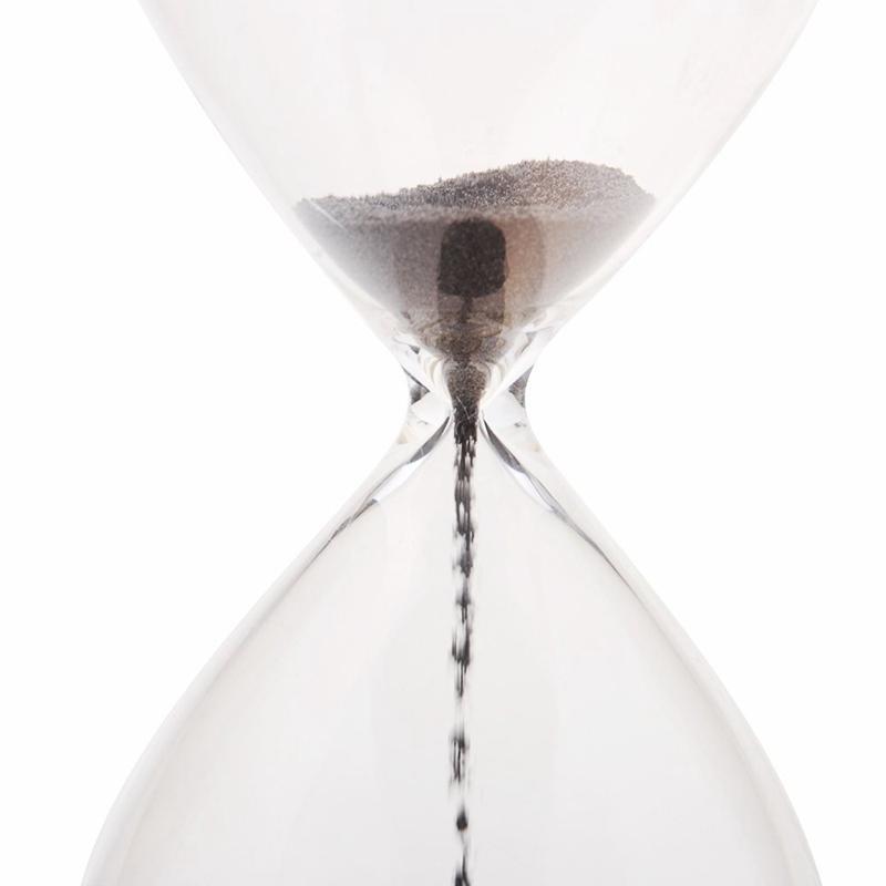 1Pcs Магнит Hourglass Awaglass дутого Sand Timer украшения рабочего Magnetic Песочные часы черный Другие часы Аксессуары