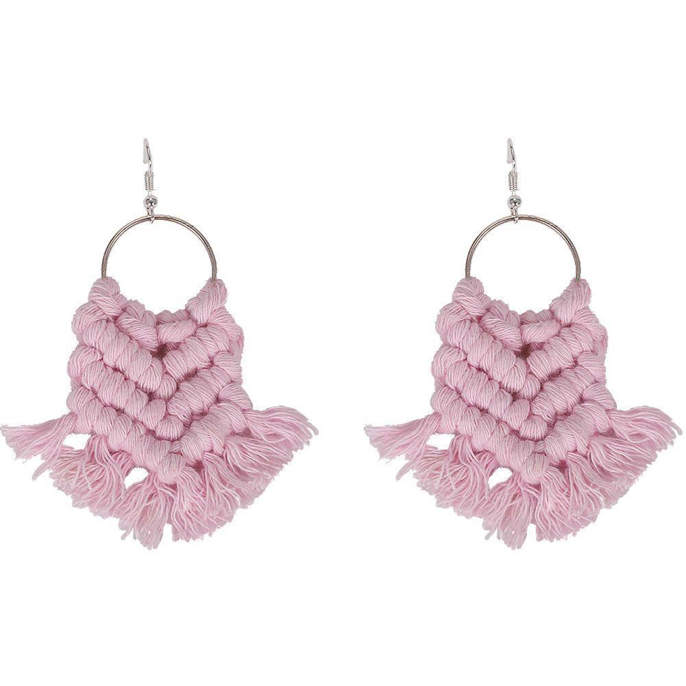 Fashion Heart Tassel Dangle Earrings For Women Bohemian Ethnic Vintage Big Hoop Statement Earrings Girls Female Wedding Gift Jewelry