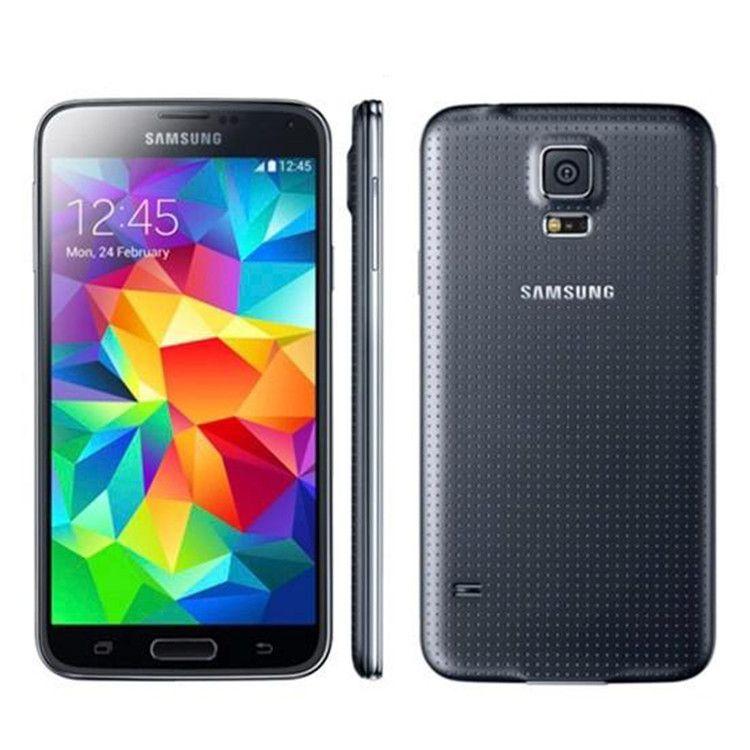 تجديد سامسونج غالاكسي S5 i9600 SM-G900 G900A G900V G900F 4G LTE 5.1Inch IPS شاشة 2GB 16GB الهاتف الخليوي