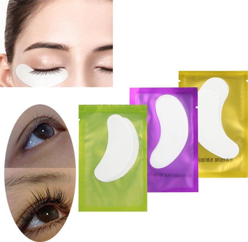 Hidrogel fino tapa-olho para extensão dos cílios sob tapa-olhos almofadas de gel sem fiapos máscara de olho de umidade