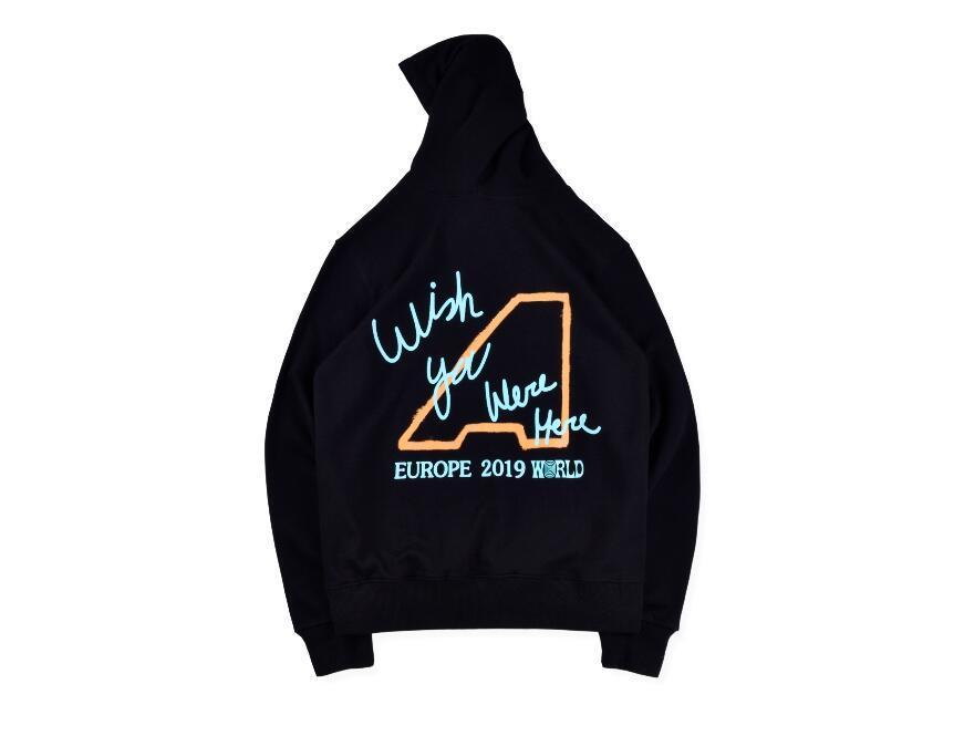 Новый Трэвис Скотт AstroWorld Europe Tour London Толстовка Мужчины Женщины моды HOODIE Хип-хоп Женщины Мужчины пуловер Толстовка Размер S-XL