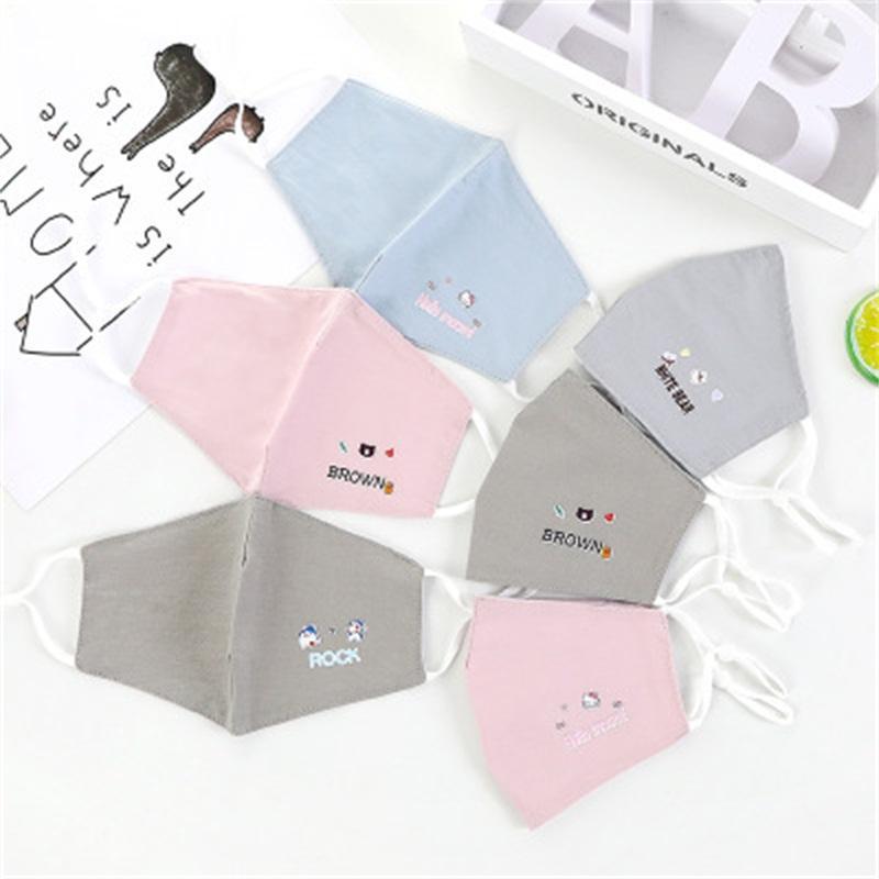 Máscara respirável Boca Criança Imprimir lindo rosto Respiradores Reutilização Boca Máscaras Crianças Crianças Estilo de Venda Directa 2 89ry H1