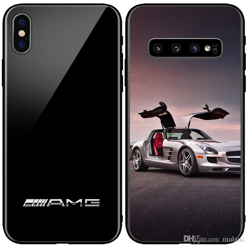 Cover AMG in fibra di carbonio per BMW Linkon Case RS per Samsung Note9 s9 s9 + s10e s10 + Iphone X XsMAX XR 7 plus