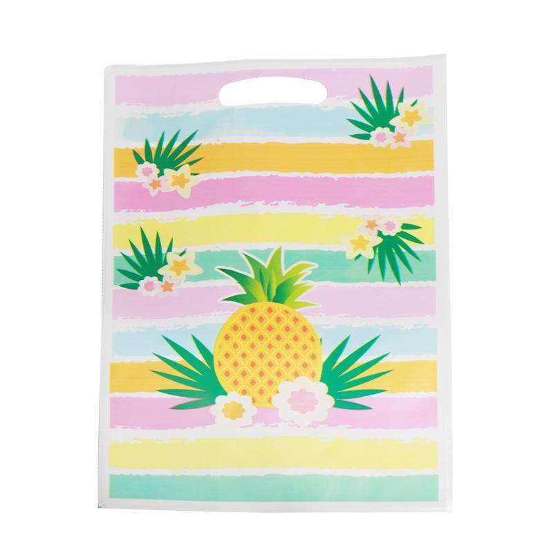 Ducha bolsa de fiesta de la boda 40pcs Hawaiian Pineapple regalo de cumpleaños bolsa de plástico botín bebé de los niños de caramelo Decoración de accesorios