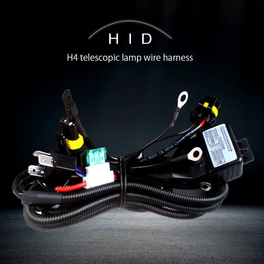 1pcs HID Bi xenon H4 Hi/Lo hid xenon kit H4-3 H13-3 9004-3 9007-3 bixenon wiring harness hi lo controller wire cable harness