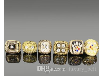 Wholesale New Super Bowl Champion Ring Wooden Box Set Men's Ring Jewelry