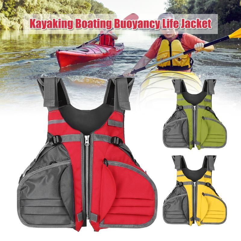 Revestimento de alta qualidade Pesca Vida Jacket Vest ajustável respirável Vela Caiaque Boating flutuabilidade Vida Colete