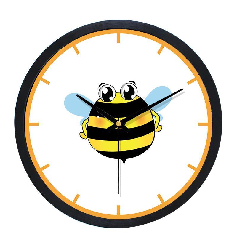 Madera de la historieta moderna relojes de pared Decoración para el Hogar de 10 pulgadas Relojes para niños Sala de Secret Stash Cocina Montre Murale reloj Inicio SC176