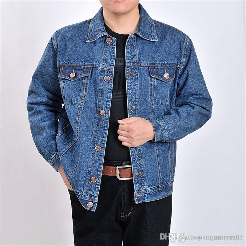 Sólida Mens Cor Designer Jackets New Impresso Mens soltas Denim Jackets Hot Style masculinos ocasionais dos revestimentos