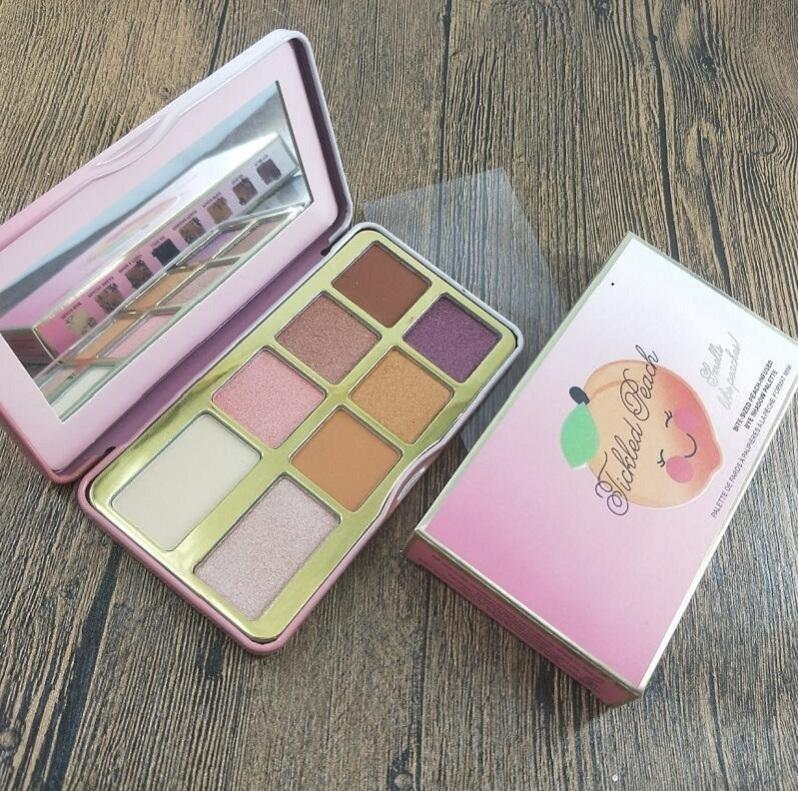 New Eye makeup Faced Sugar Cookie or Tickled Peach Mini Eyeshadow Make Up Holiday Chirstmas 8color eyeshadow palette dhl free shipping