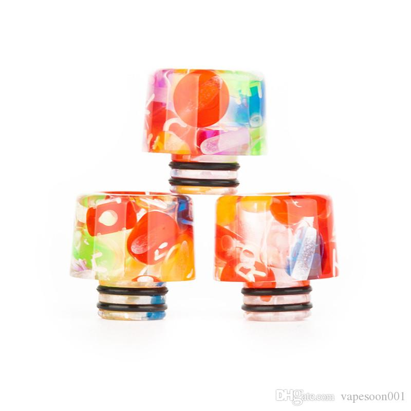 Wholesale VapeSoon 510 Candy Resin Drip Tip Beautiful Drip Tip For TFV8 Baby Falcon Crown 4 etc DHL Free