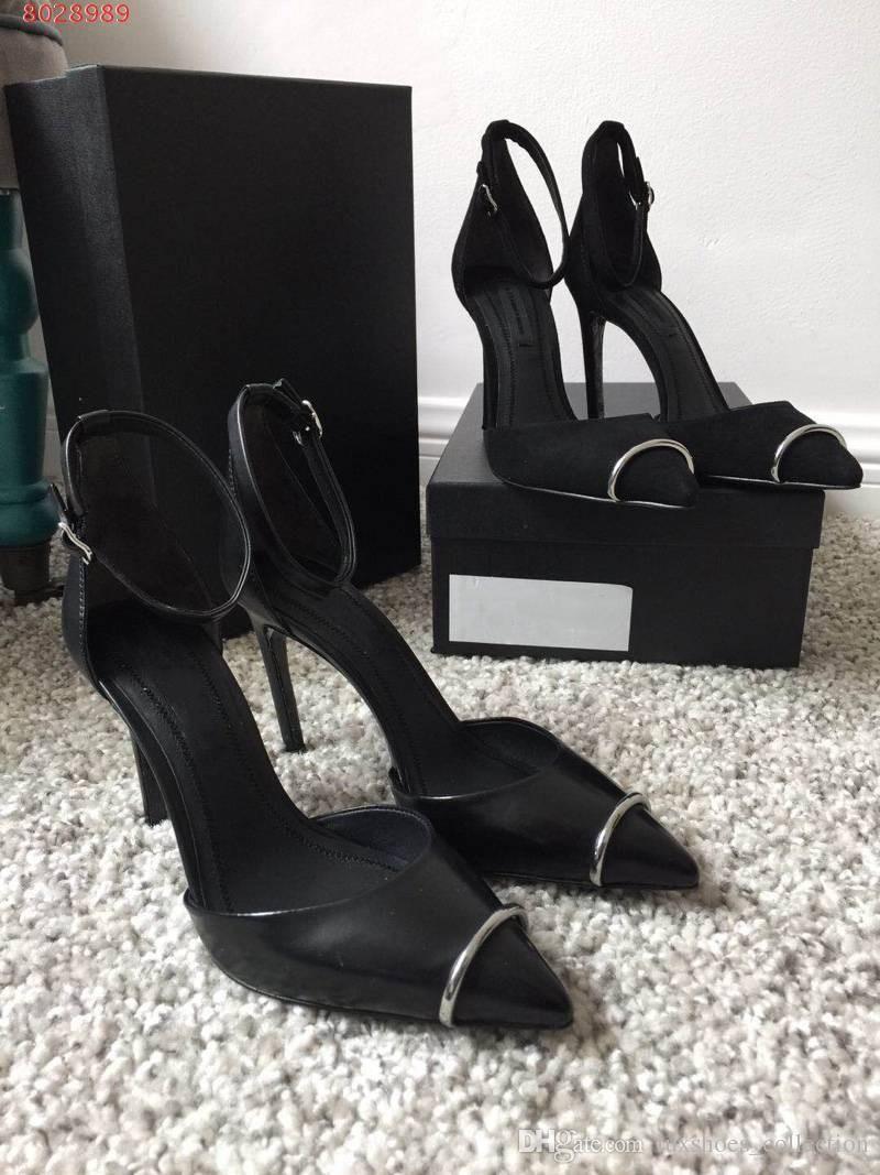 Scarpe di marca da donna personalizzate di fascia alta Tessuto di pelle importato in Italia Sandali eleganti da donna eleganti con tacco alto