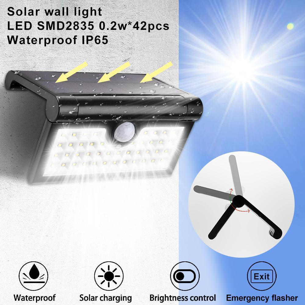 lámpara de pared Índice de refracción nueva calle lámpara solar LED inducción al aire libre lámpara de pared iluminación del patio lámparas de las lámparas de pared inducción del cuerpo humano