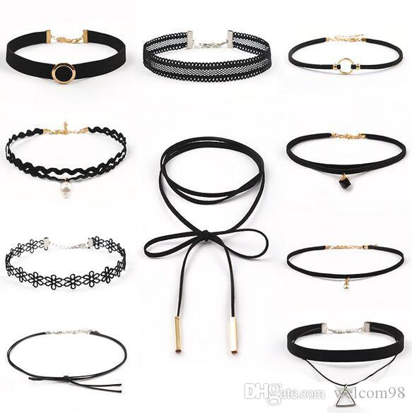 10pcs/lot punk Chokers Necklace Cords For DIY Craft Fashion Jewelry Gift 12.5inch A899 Free shipping