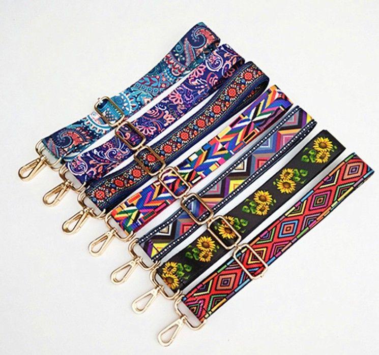 Borse nylon colorato Belt Strap accessori per le donne dell'arcobaleno regolabile spalla borsa cinghie decorativo maniglia ornamento