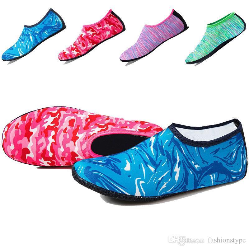Пляж Плавание Водные виды спорта Носки Дети Мужчины Женщины Подводное плавание Противоскользящая обувь Йога Танцы Серфинг Дайвинг Обувь Камуфляж в полоску
