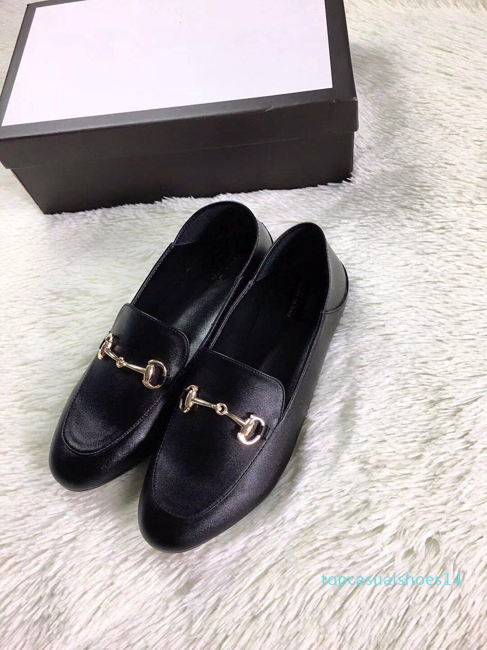 mocasines de cuero de lujo Muller Mens zapatos de diseño zapatos con hebilla de Moda Hombres Mujeres Princetown casual de las señoras mulas Pisos 34-40