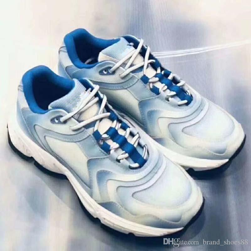 B22 Stil verursachender Schuh Trainer Runaway Arena Man-Weiß-Rot Runzlig Low Cut Sneaker Fashion Arena Schuh-Tropfen-Verschiffen ZE8