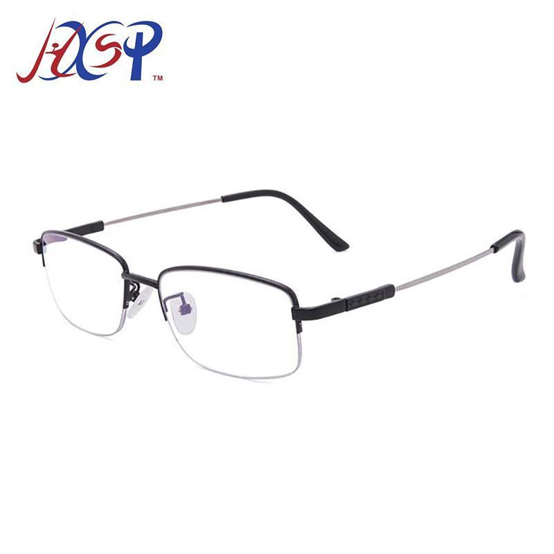 Los hombres de aleación de titanio gafas de lectura multi-capa para no esféricos recubiertos con receta retro negocio hipermetropía Gafas de tela