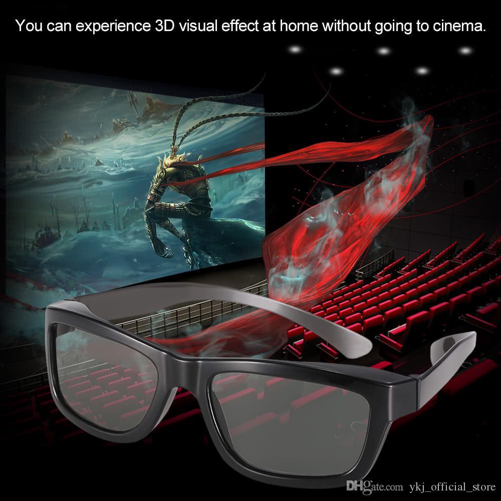 Lunettes 3D passives Lunettes de réalité virtuelle VR Verres polarisés circulaires pour TV polarisée