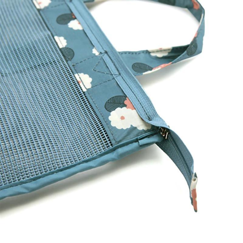 2020 большой емкости Мужчины Женщины Mesh Прозрачный мешок для обуви хранения сумка для пикника Пляжные сумки Плавание Gym Outdoot Спортивные сумки Totes