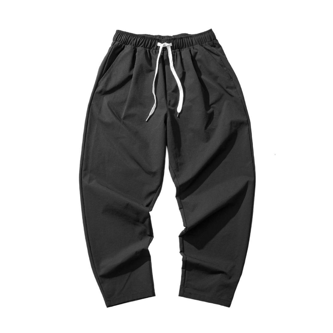 2019 nuevos pantalones de los hombres flojos Harem Pantalones masculinos cómodo Hombres pantalón largo hasta los tobillos M-5XL