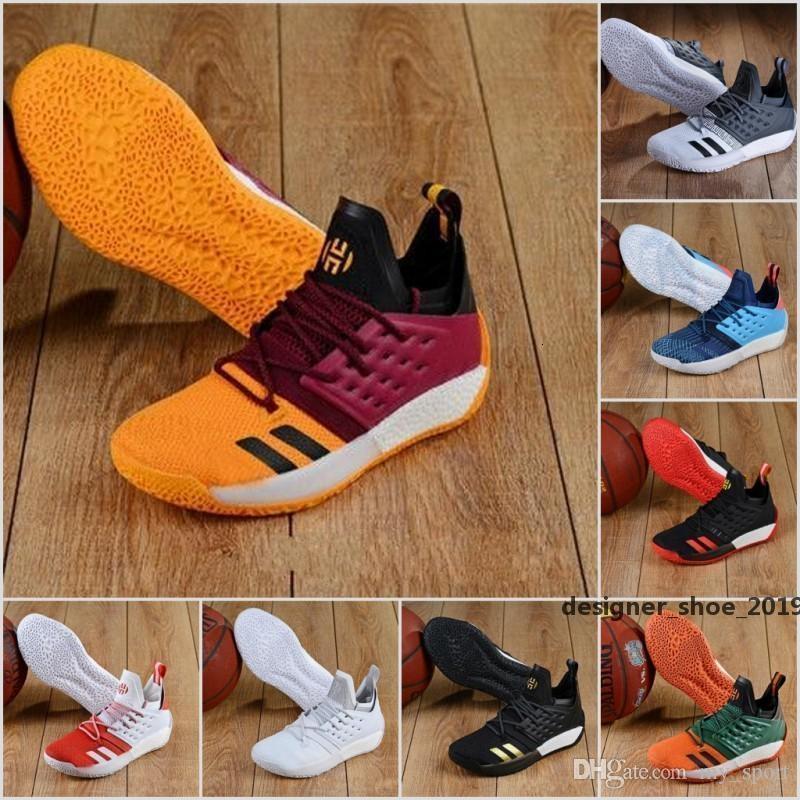 2019 New 15 cores Mvp Harden Vol .2 Mvp Homens tênis de basquete Moda Sports Multi Color de alta qualidade interior e tênis ao ar livre