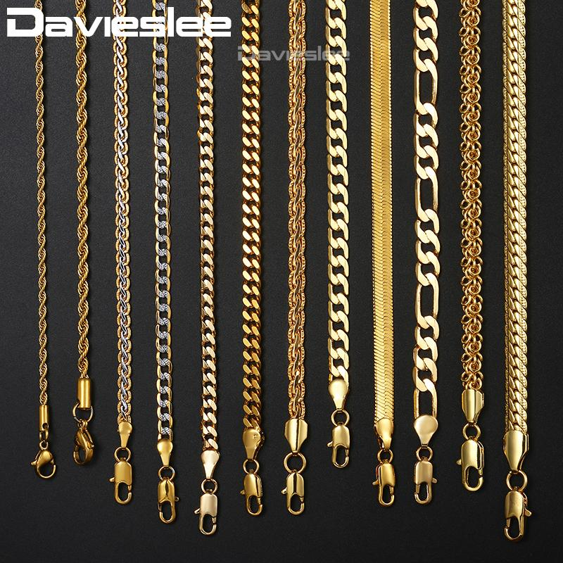 2020 Mens Womens Necklace Chain Gold Filled Figaro Hammered Snake Curb Gold Necklaces For Women Men Fashion Jewelry 2 3 4 5 6mm Lgnn2 From Jingchengyan 24 2 Dhgate Com