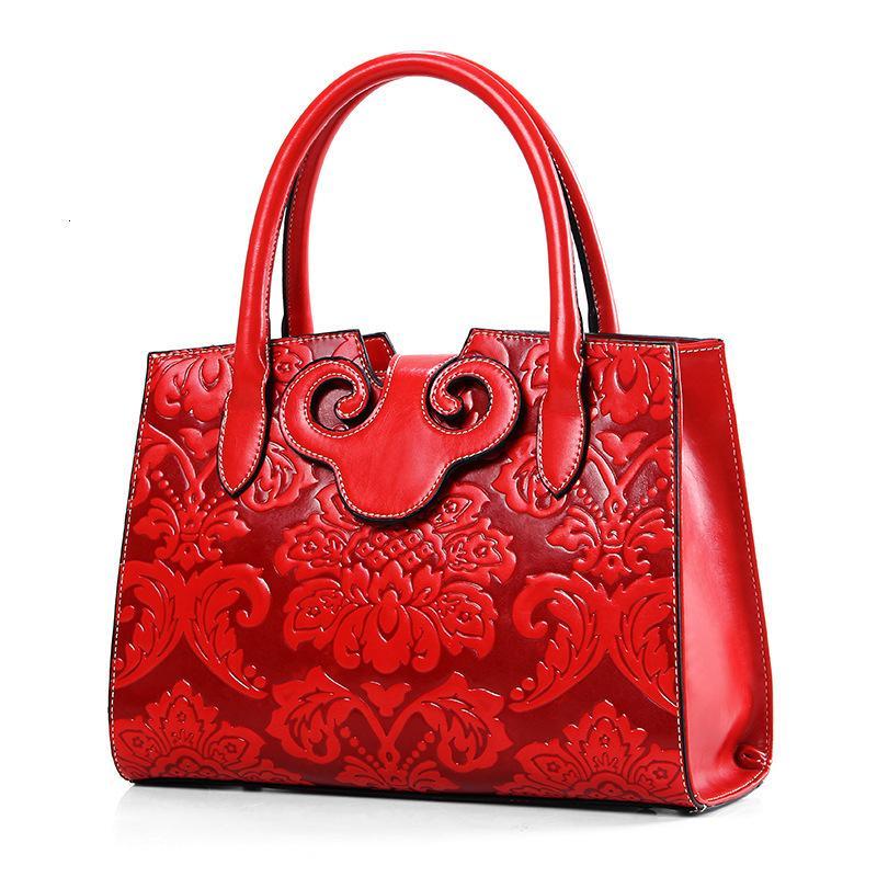 Spalla goffratura In Nazionale doganale Nazione vento singolo portatile Donna della confezione borse crossbody per le donne moda casual Tote