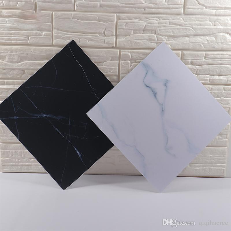 Nordic Vinyl autoadesivo autoadesivo marmo trama decalcomanie murali spessore bagno impermeabile bagno pavimenti piastrelle adesivi per la casa decorazioni per la casa 30x30cm