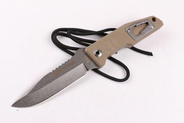 Alemanha HK faca de lâmina reta fixa D2 60HRC G10 alça faca de caça ferramentas multi xmas faca presente para homem 03422 Adco