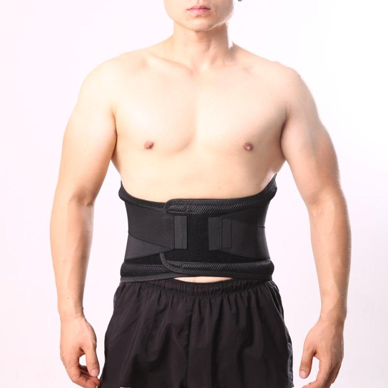 Back Support with 4 PCS Steel Plate Lumbar Brace Belt Strap Lower Backache Pain Relief Lower Back Pain Relief Support Belt